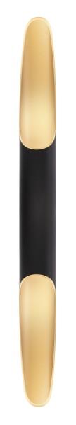 Deko-Light Wandaufbauleuchte, Apodis 800, Aluminium, goldfarben, Warmweiß, 30°, 12W, 230V, 76x61mm