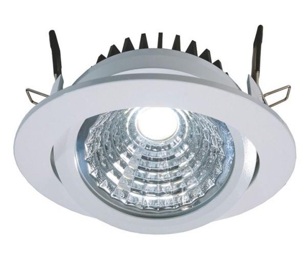 KapegoLED Deckeneinbauleuchte, COB 95, inklusive Leuchtmittel, Weiß, Kaltweiß, Abstrahlwinkel: 40°