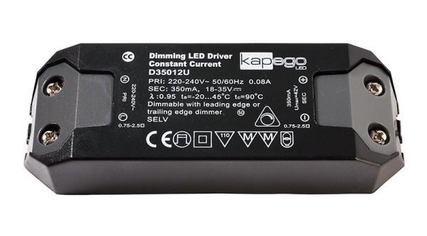Deko-Light Netzgerät, BASIC, D350012U, Kunststoff, Schwarz, 12W, 18-35V, 350mA, 115x39mm
