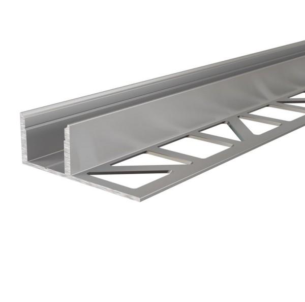 Reprofil Profil, Fliesen-Profil EL-03-12, Aluminium, Silber, 2500mm