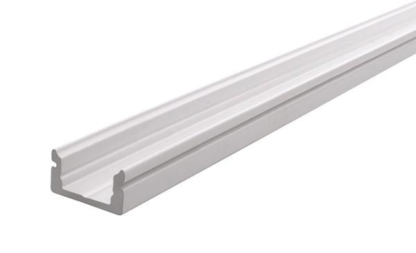 Reprofil Profil, U-Profil flach AU-01-08, Aluminium, Weiß-matt, 2000mm