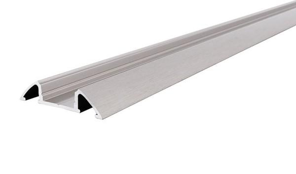 Reprofil Profil, Unterbau-Profil flach AM-01-10, Aluminium, Silber gebürstet, 2000mm