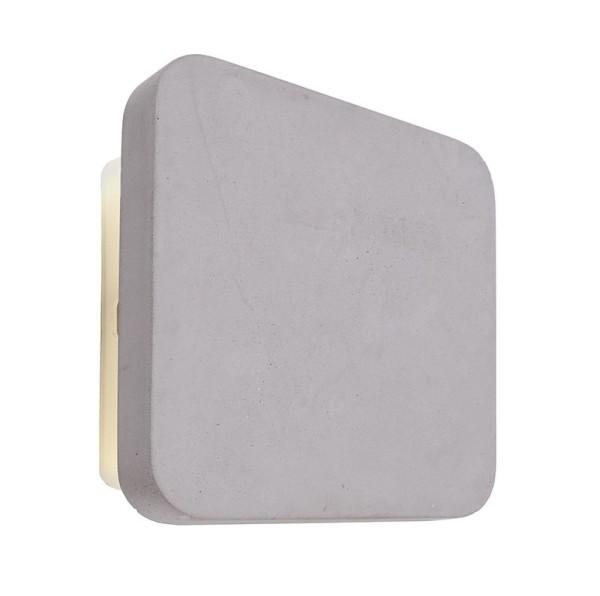 Deko-Light Wandaufbauleuchte, Relono II, Beton, grau, Warmweiß, 360°, 4W, 230V, 150x150mm