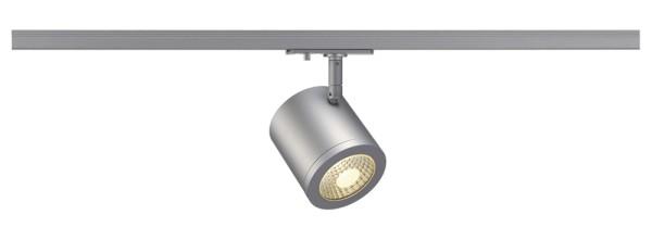 ENOLA_C, Spot für Hochvolt-Stromschiene 1Phasen, LED, 3000K, rund, silbergrau, 55°, 12W