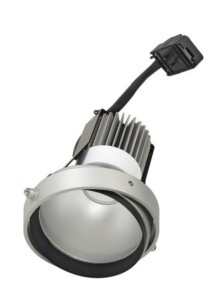 LED DISK MODUL, für AIXLIGHT PRO Einbaurahmen, 2700K, silbergrau/schwarz, 50°