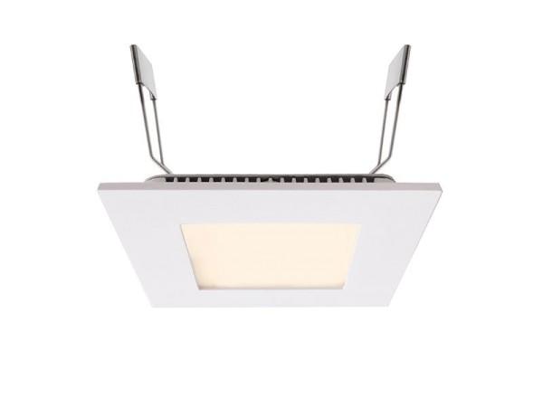 Deko-Light Deckeneinbauleuchte, LED Panel Square 8, Aluminium Druckguss, weiß, Warmweiß, 110°, 7W