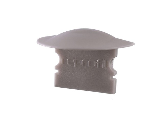 Reprofil Profil Zubehör, Endkappe F-ET-02-12 Set 2 Stk, Kunststoff, Grau, 27x16mm