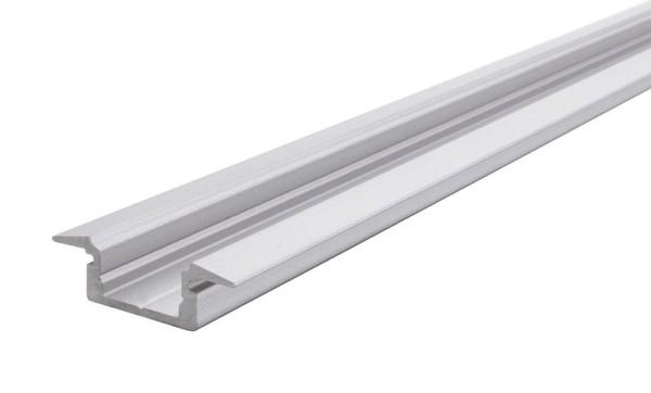 Reprofil Profil, T-Profil flach ET-01-08, Aluminium, Silber-matt eloxiert, 2000mm