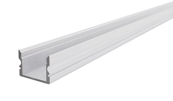 Reprofil Profil, U-Profil hoch AU-02-15, Aluminium, Weiß-matt, 1000mm