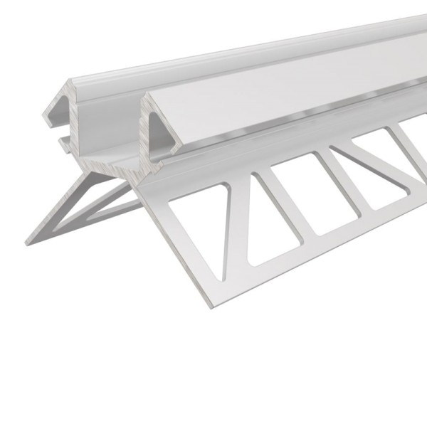 Reprofil Profil, Fliesen-Profil Ecke außen EV-02-12, Aluminium, Weiß lackiert, 1250mm