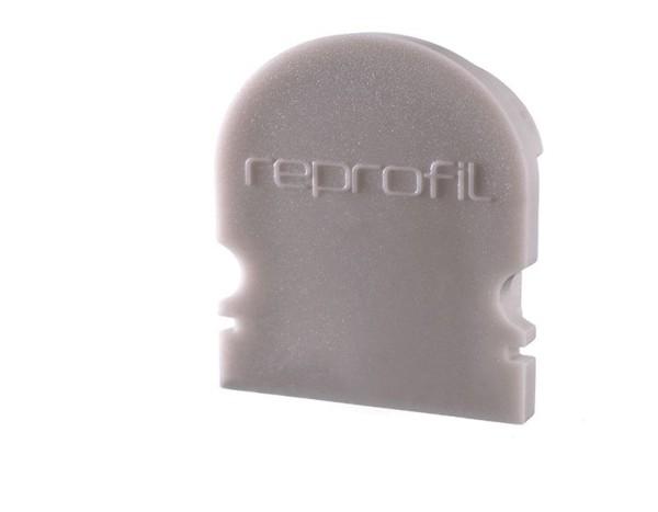 Reprofil Profil Zubehör, Endkappe R-AU-02-15 Set 2 Stk, Kunststoff, Grau, 21x6mm