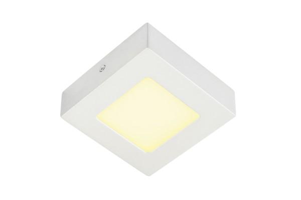SENSER 6, Wand- und Deckenleuchte, LED, 3000K, eckig, weiß, 6W