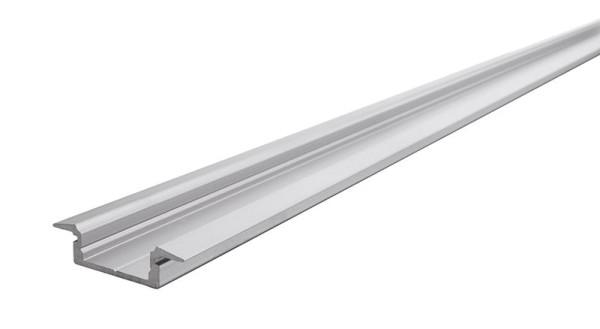 Reprofil Profil, T-Profil flach ET-01-15, Aluminium, Silber-matt eloxiert, 2000mm