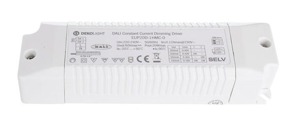 Deko-Light Netzgerät, DALI Multi CC EUP20D-1HMC-0, Kunststoff, Weiß, 20W, 3-40V, 350mA, 150x43mm