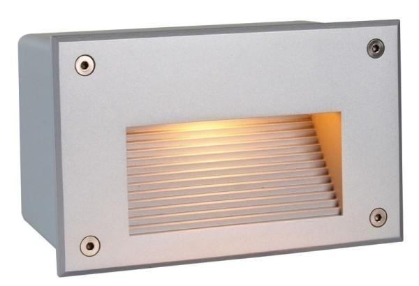 Deko-Light Wandeinbauleuchte, Side II WW, Aluminium Druckguss, silberfarben matt, 40W, 230V