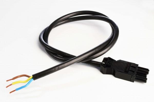 Zubehör, Wieland GST18i3 Anschlussleitung mit Stecker 100cm, Kunststoff, Schwarz, 230V, 1000mm