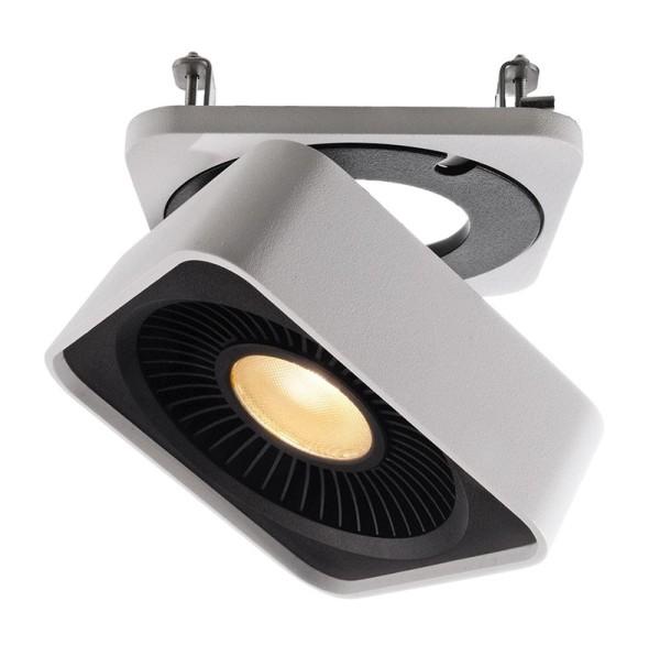 Deko-Light Deckeneinbauleuchte, Black & White IV, Aluminium Druckguss, weiß, Warmweiß, 40°, 26W