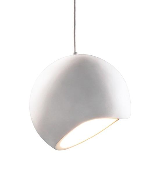 Deko-Light Pendelleuchte, Osane, Gips, weiß überstreichbar, 40W, 230V