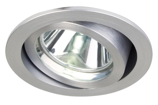 KapegoLED Deckeneinbauleuchte, EV-III, inklusive Leuchtmittel, Silber, gebürstet, Kaltweiß, Abstrahl