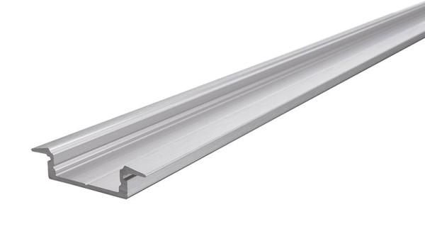 Reprofil Profil, T-Profil flach ET-01-15, Aluminium, Silber gebürstet, 2000mm