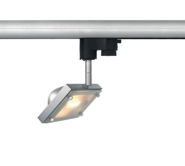 Kapego Schienensystem 3-Phasen 230V, Oval Light, exklusive Leuchtmittel, Silber-matt, R7S 78mm