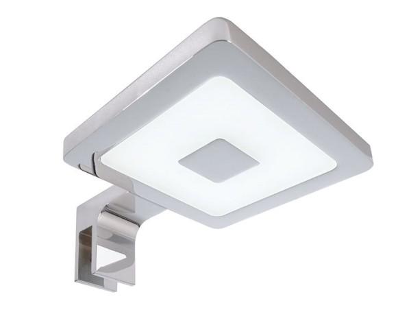 Deko-Light Möbelaufbauleuchte, Spiegel Eckig II, Aluminium, silberfarben Chrom, Neutralweiß, 120°