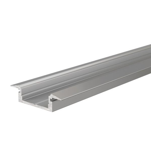Reprofil, T-Profil flach ET-01-12 für LED Stripes bis 13,3 mm, Silber-matt, eloxiert, 2000 mm