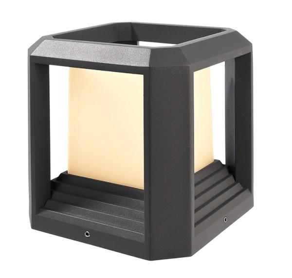 Deko-Light Stehleuchte, Bootis I, Aluminium Druckguss, dunkelgrau, Warmweiß, 12W, 230V, 150x150mm