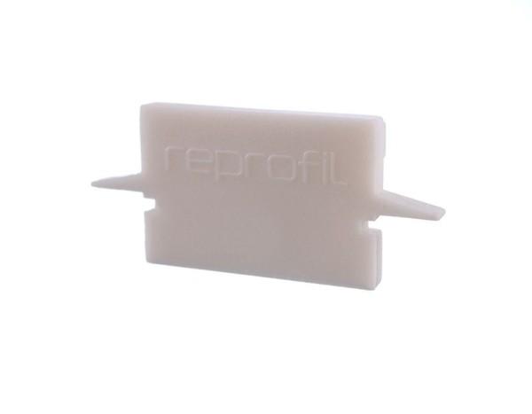 Reprofil Profil Zubehör, Endkappe H-ET-01-12 Set 2 Stk, Kunststoff, Weiß, 27x6mm