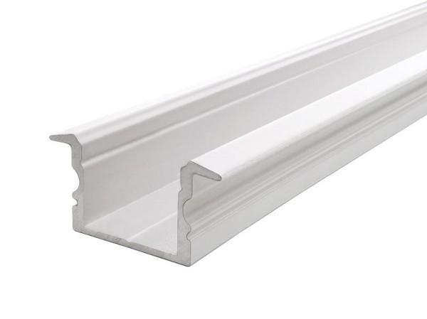 Reprofil Profil, T-Profil hoch ET-02-15, Aluminium, Weiß-matt, 2000mm