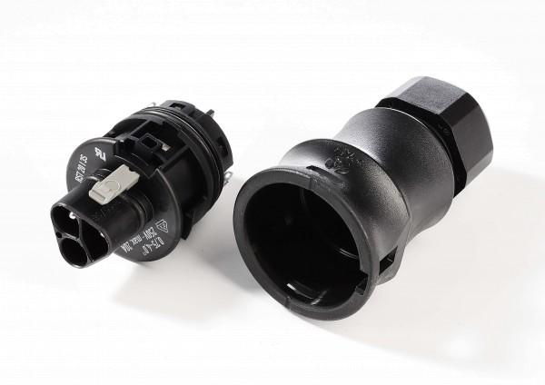 Kabelsystem, Wieland RST20i3 Stecker, Kunststoff, Schwarz, 79mm