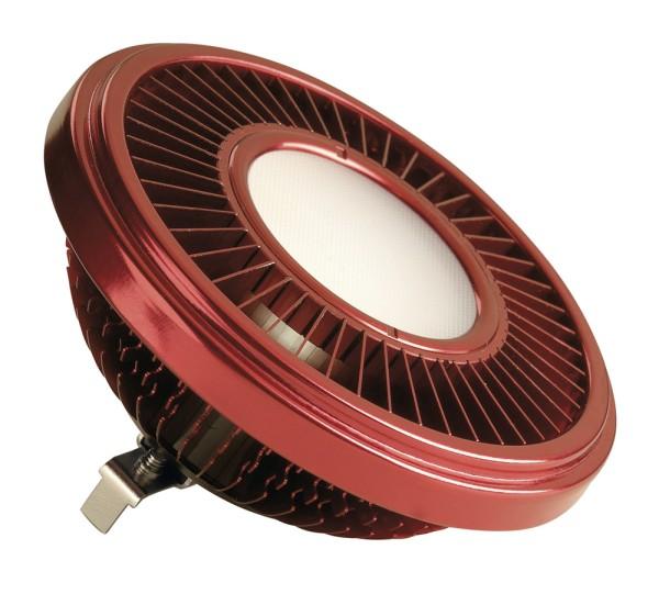 LED QRB111, Leuchtmittel, rot, 19,5W, 140°, 2700K, dimmbar