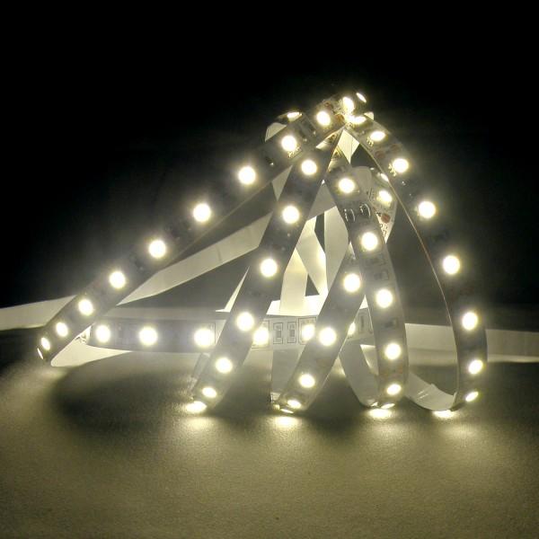 Flexibler LED Strip, 5m, 5050, SMD, Kaltweiß, 12V DC, 10,80 W/m