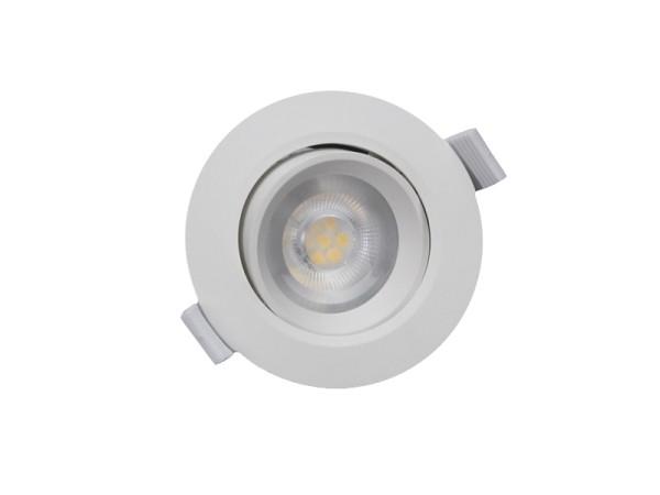 Deko-Light Deckeneinbauleuchte, SMD-68-230V-4000K-rund, Kunststoff, Weiß-matt, Neutralweiß, 45°, 6W