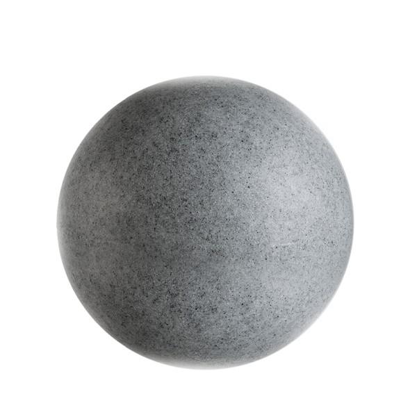 Deko-Light Dekorative Leuchte, Kugelleuchte Granit 25, Polyethylen (LLDPE), grau Granikoptik, 20W