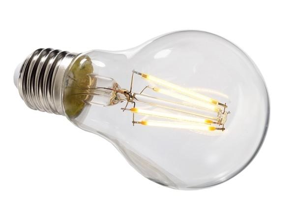 Deko-Light Leuchtmittel, Filament E27 A60 2700K, Glas, Warmweiß, 300°, 4W, 230V, 11mA, 105mm