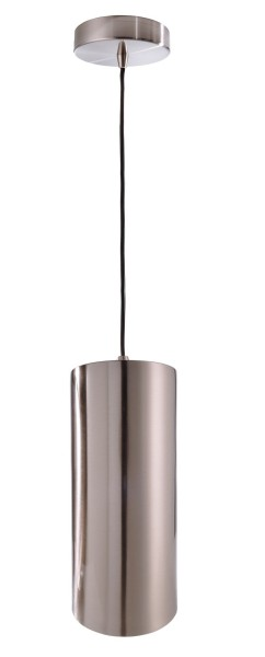 Deko-Light Pendelleuchte, Barrel, Metall, silberfarben satiniert, 40W, 230V, 250mm