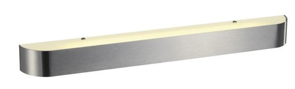 ARLINA T5 24, Wandleuchte, T16, aluminium gebürstet, Glas satiniert, L/B/H 67/6,5/6 cm, max. 24W