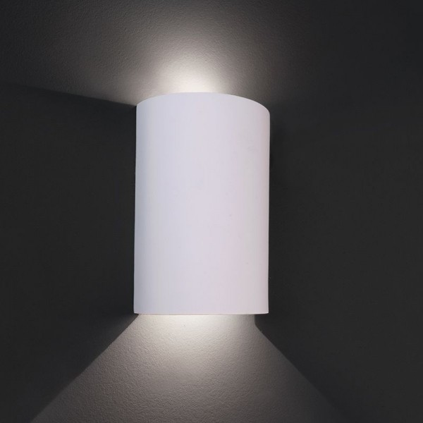 Deko-Light Wandaufbauleuchte, Mirada, Gips, weiß überstreichbar, Warmweiß, 6W, 230V, 100x50mm