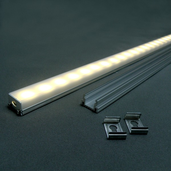 ALU-PROFIL SET mit Cover für LED Strip, 1m