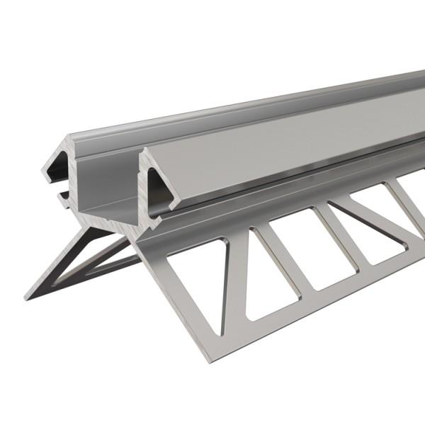 Reprofil, Fliesen-Profil Ecke außen EV-02-12 für LED Stripes bis 13,3 mm, Silber, eloxiert