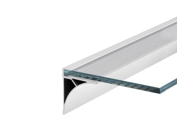 GLENOS, Regal-Profil, weiß matt, 1 m