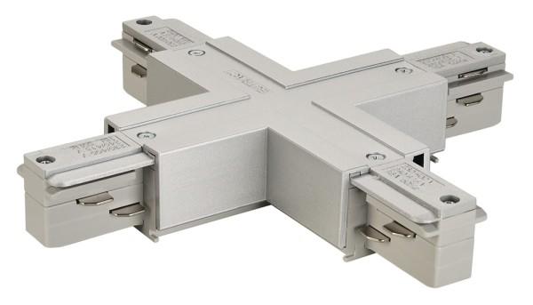 X-VERBINDER, für EUTRAC Hochvolt 3Phasen-Aufbauschiene, mit Einspeisemöglichkeit, 2 Stromkreise