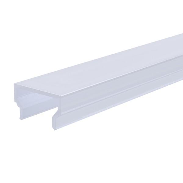 Reprofil, Abdeckung H-01-10, Kunststoff, milchig 40% Transmission, Länge: 3000 mm