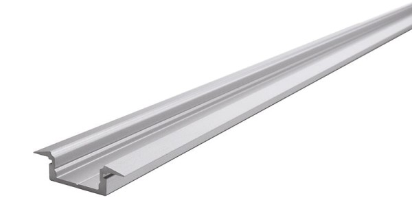Reprofil Profil, T-Profil flach ET-01-12, Aluminium, Silber-matt eloxiert, 2000mm