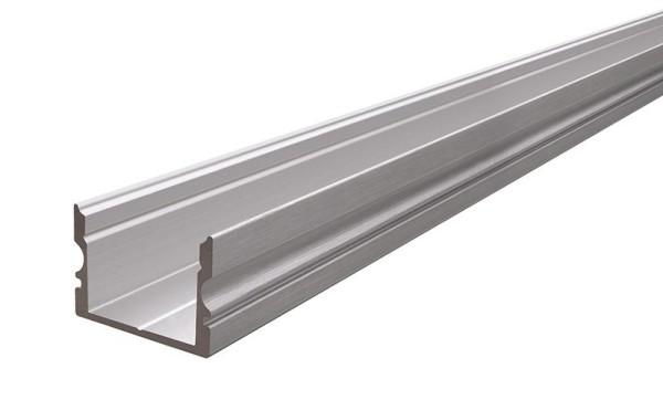 Reprofil Profil, U-Profil hoch AU-02-15, Aluminium, Silber gebürstet, 2000mm