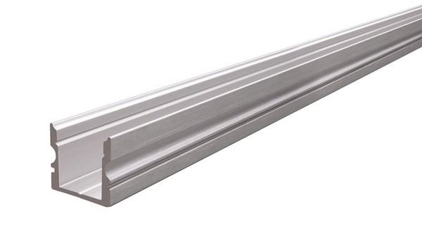 Reprofil Profil, U-Profil hoch AU-02-10, Aluminium, Silber gebürstet, 2000mm