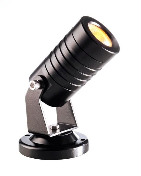 Deko-Light Boden- / Wand- / Deckenleuchte, Mini I Amber, Aluminium Druckguss, schwarz, Amber, 30°
