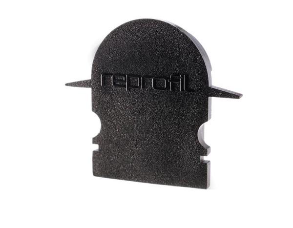 Reprofil Profil Zubehör, Endkappe R-ET-02-12 Set 2 Stk, Kunststoff, Schwarz, 27x6mm