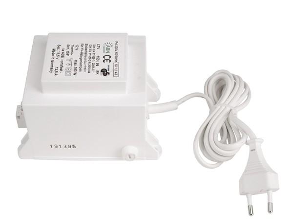 Netzgerät, ABN Transformator 12 VAC,150 W, IP 20, Kunststoff, Weiß, 150W, 11V, 130x88mm